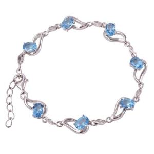 a4400c1e4ab51d ARIA; Srebrna bransoletka z blue topazami 6,6 ct
