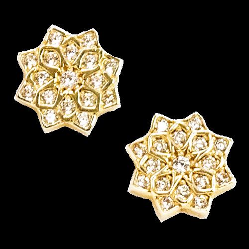 22defecf7670db ... ULA Kolczyki złote kwiaty z cyrkoniami.  _złote_kolczyki_cyrkonie_sztyft_kwiatek_rozeta 01.png